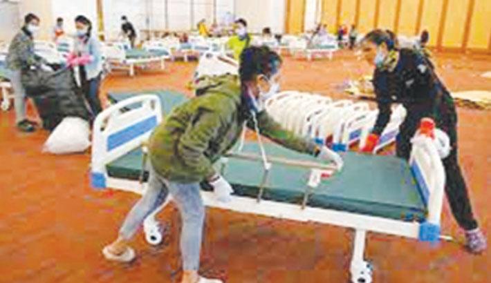 Cambodia uses wedding halls for corona patients