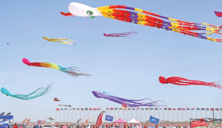 The 38th Weifang International Kite Festival in Weifang in China's eastern Shandong province