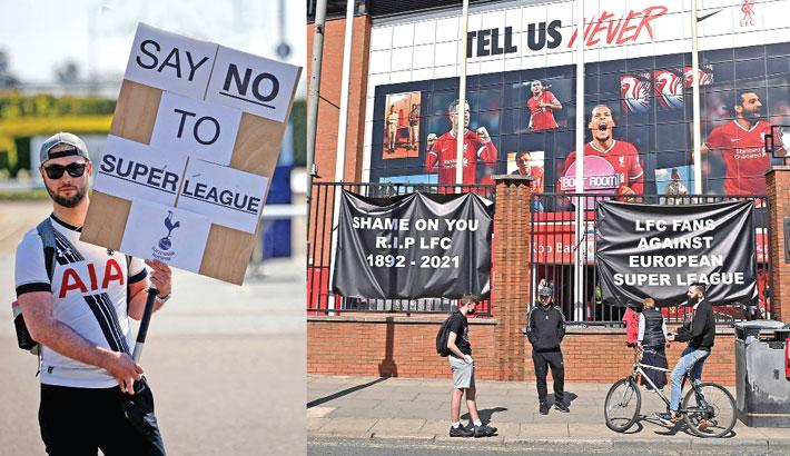 Fans unite to slam European Super League as 'ultimate betrayal'