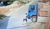 Truck starts rolling away without driver
