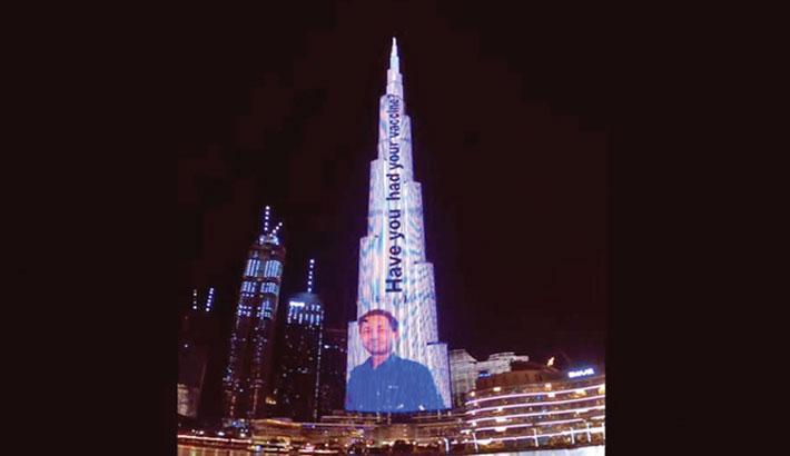 Burj Khalifa shows image of Bangladeshi as frontline hero