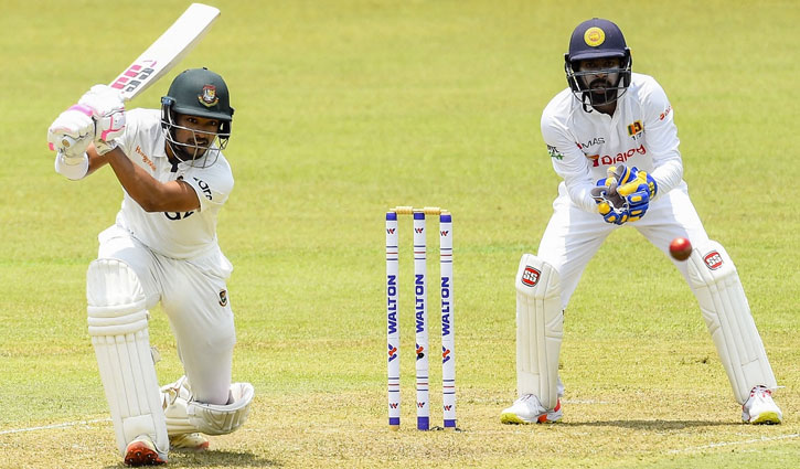 Najmul hits maiden Test century