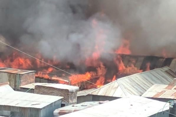 200 shanties gutted in Uttara slum fire