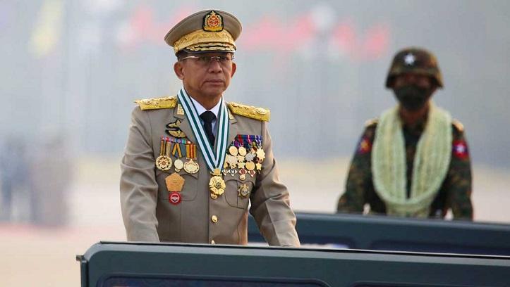 Myanmar military cracks down on protesters as junta leader in summit