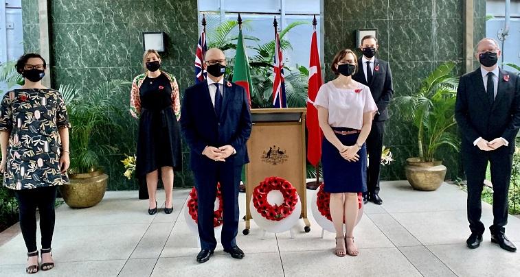 Australians mark 106th anniversary of Anzac Day in Bangladesh