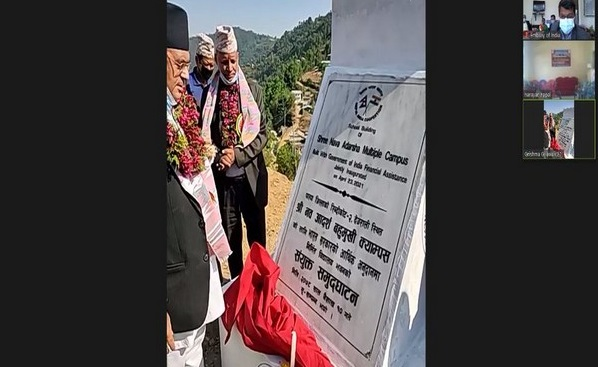 India builds infrastructures for three educational institutions in Nepal's Palpa