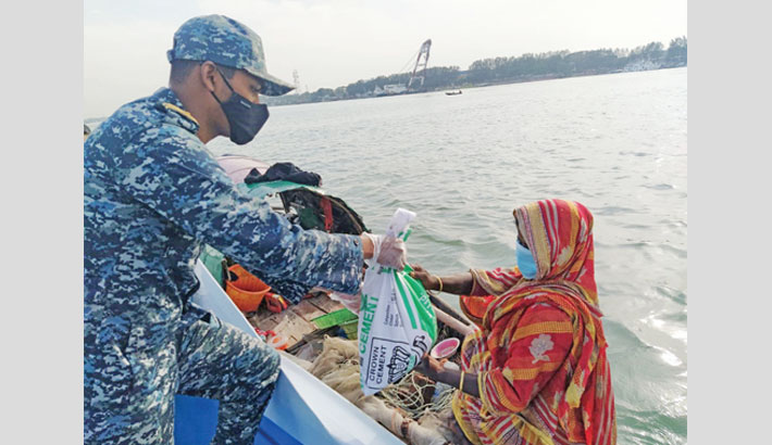 Navy stands by corona-hit people in remote areas