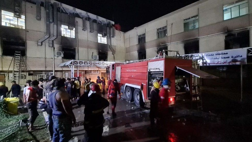 At least 23 dead in fire at Iraqi Covid hospital