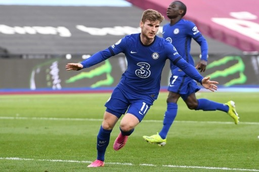 Werner tightens Chelsea's grip on top four, Liverpool held by Newcastle