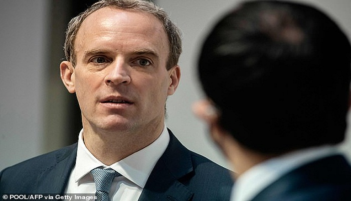 Britain slashes aid to China by 95% to less than £1million amid furious row over Uighurs and Hong Kong, with Dominic Raab saying remaining cash will only be used to promote 'open societies and human rights'