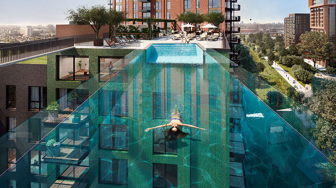 London's new see-through Sky Pool is first of its kind