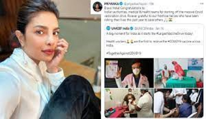 Priyanka Chopra requests for help as India is suffering from Covid-19
