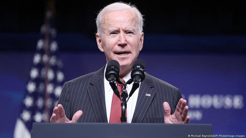 Biden celebrates an America 'on the move again'