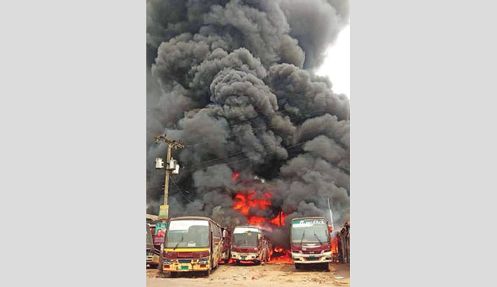 9 buses, 14 shops gutted by depot fire
