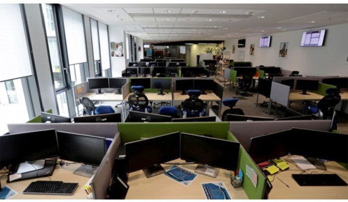 Work piles up at offices amid lockdown
