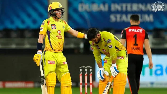 CSK thump Hyderabad by seven wickets
