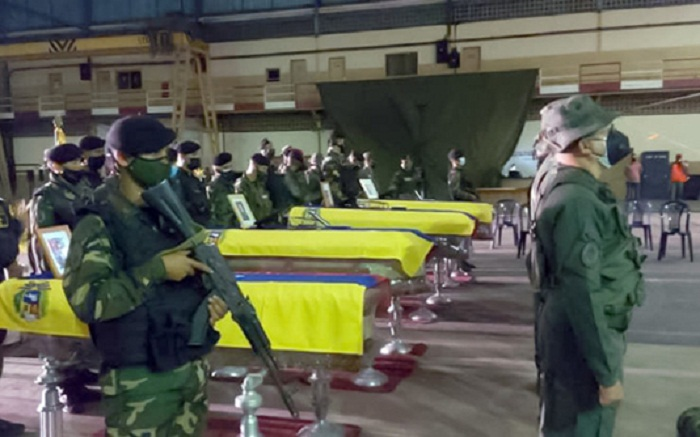 Eight Venezuelan soldiers killed in clashes on Colombian border: army