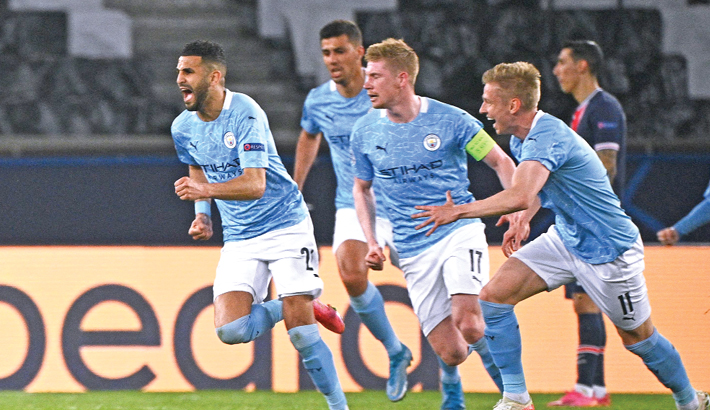 Mahrez grabs winner as Man City beat 10-man PSG