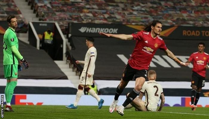 Man Utd score six in Europa League semi final first-leg win against Roma