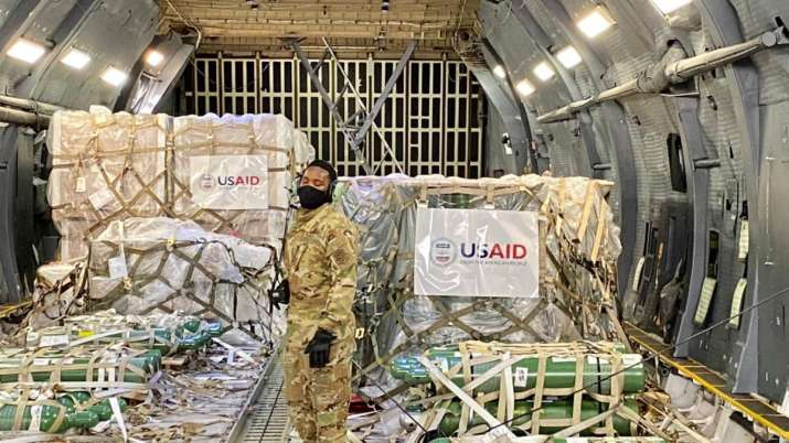 First US Covid emergency aid supplies arrive in India