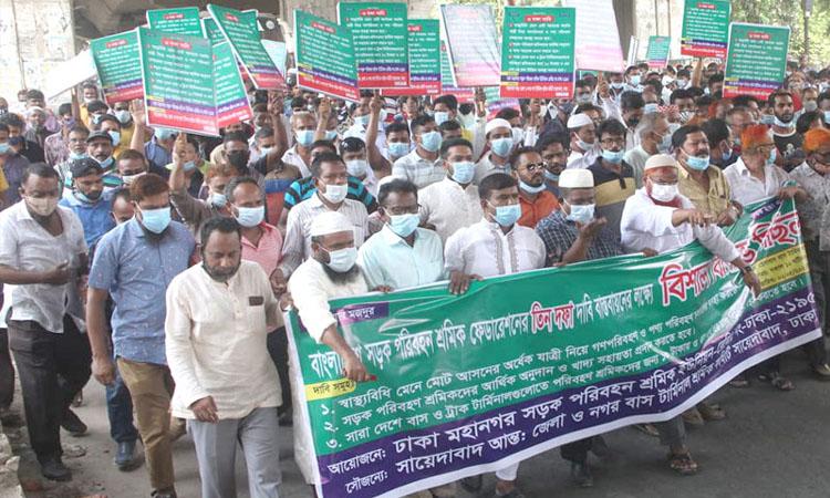 Transport workers demand resumption of public transport, food assistance