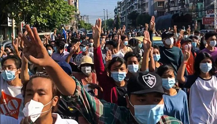 8 killed as Myanmar security forces fire on 'spring revolution' protests
