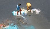 Old polythene and plastic bags, laced with toxic chemicals