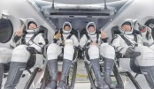 ISS astronauts splash down off Florida on SpaceX craft