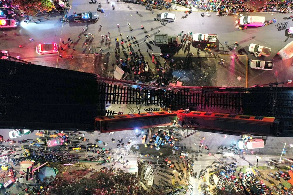 23 killed and 70 wounded in Mexico City rail overpass collapse
