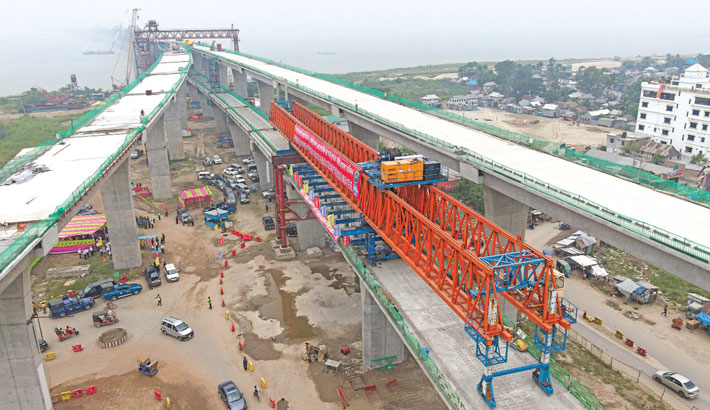 Padma Bridge Rail Link: Viaduct-2 construction completes before schedule