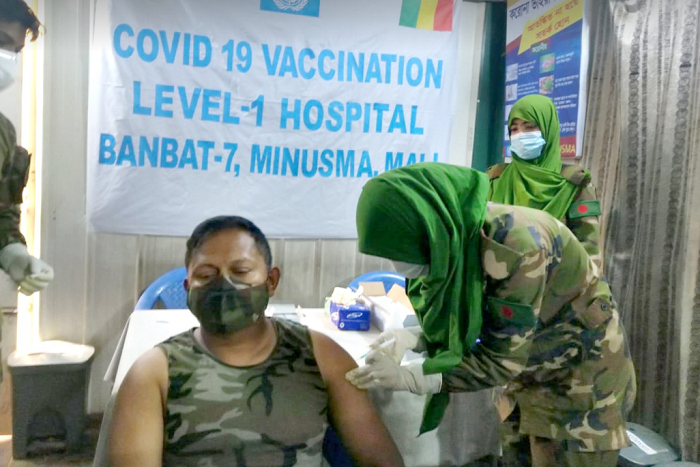 Covid-19 vaccination started for Bangladeshi peacekeepers in UN peacekeeping mission