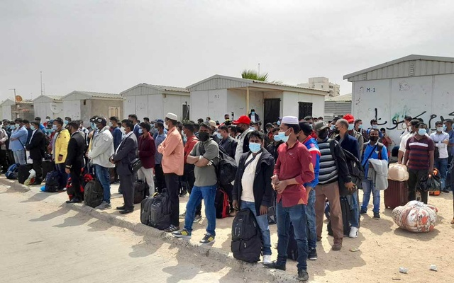 160 stranded migrant workers return from Libya