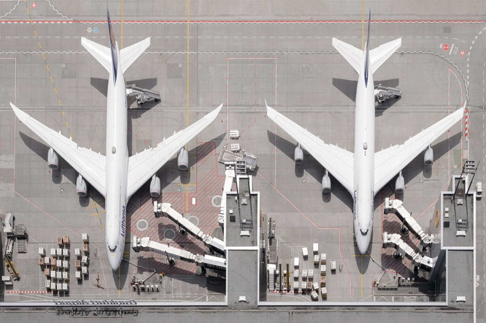 Aerial photos reveal hidden beauty of airports