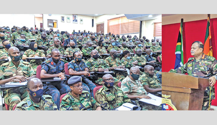 Army chief visits Zambia's defence college