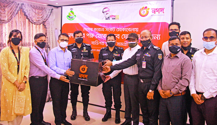 Nagad donates sanitiser, masks to RAB