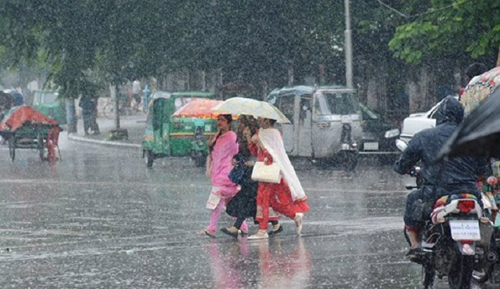 Rain or thundershowers with gusty wind likely across country