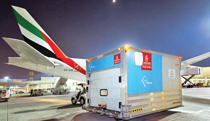 Emirates transports 59mn doses of corona vaccines