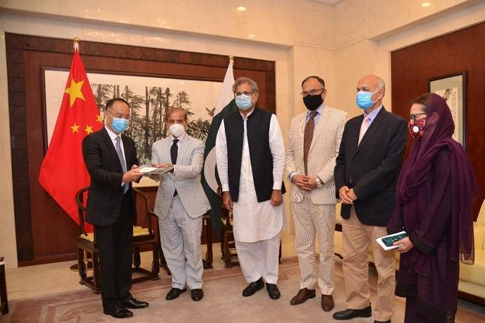 Shehbaz meets Chinese, British envoys