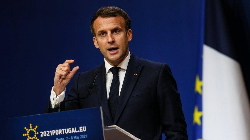 Covid: Macron calls on US to drop vaccine export bans