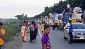 20- km tailback on Dhaka-Aricha highway