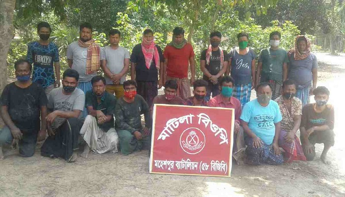 27 held from Jhenaidah border while entering the country illegally