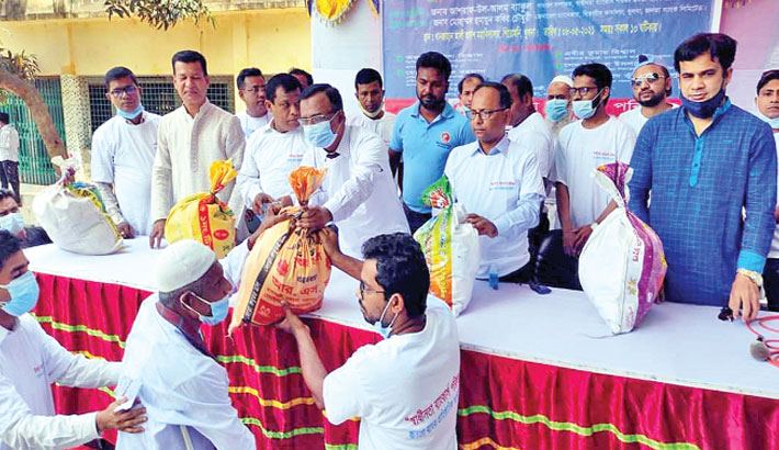 Janata Bank distributes relief among poor people in Khulna