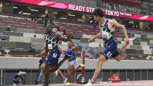 Tokyo 2020 Olympics: Justin Gatlin part of test event at stadium