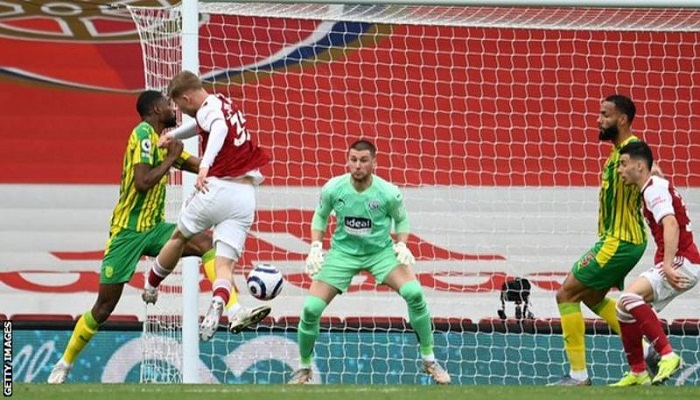 West Brom down after defeat at Arsenal