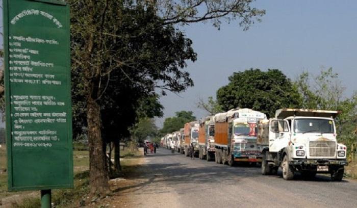 Trade through Burimari land port to remain suspended for 6 days