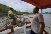 2500 metres of illegal fishing net seized from Halda River