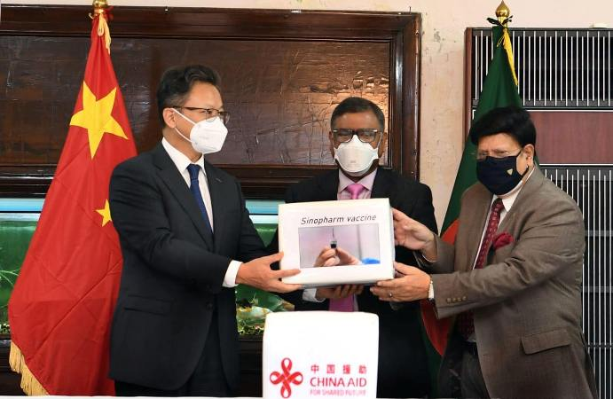 China hands over 5 lakh doses Covid-19 vaccine as gift