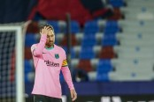 Barca title hopes hanging by a thread after Levante draw