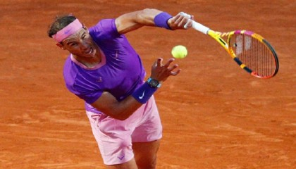 Nadal off to winning start in 10th Italian Open title bid