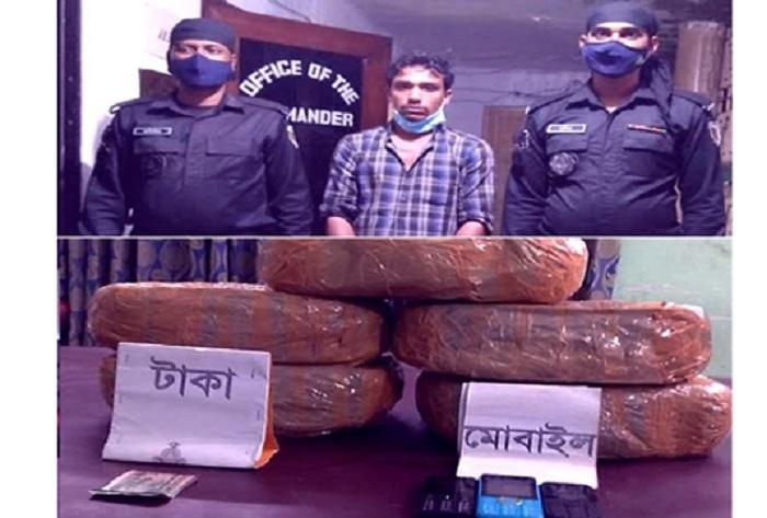 One held with 10 kgs of ganja in Rangpur